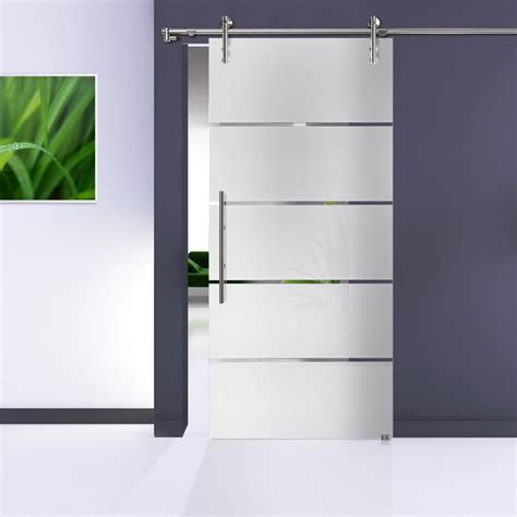 Glass Sliding Barn Door Hardware Stainless Steel Glass Sliding Barn Doors