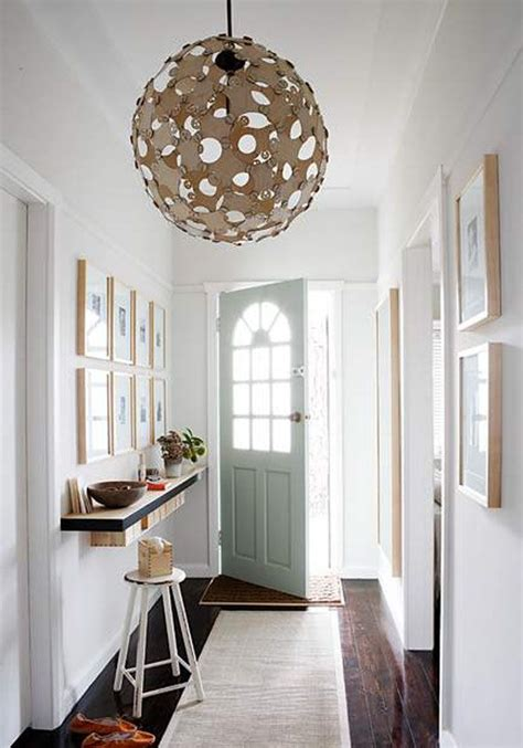 cute idea  narrow entry hall love  natural light