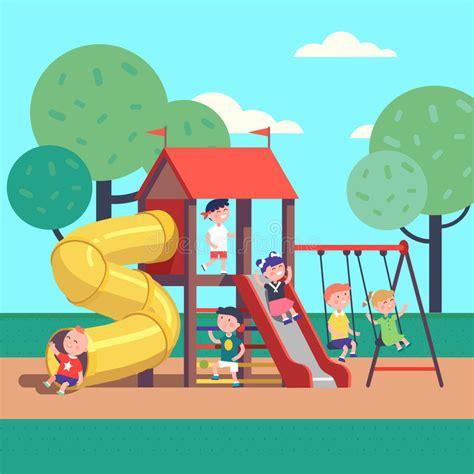 clipart bambini giocano bambini giocano gioco su un co da giuoco parco