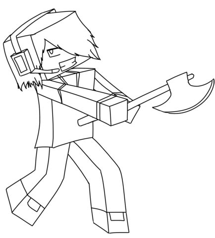 coloring pages of minecraft youtubers coloriage deadlox de minecraft coloriages 224 imprimer