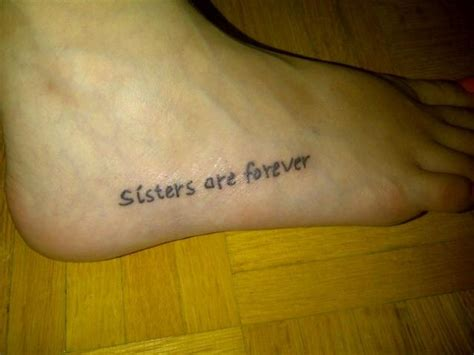 sister foot tattoos foot i mine