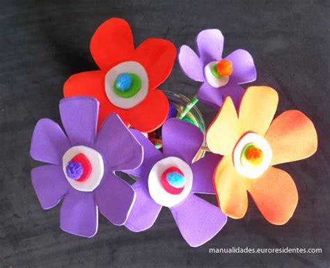 tutorial flores de goma eva foami flores de foami f 225 ciles manualidades