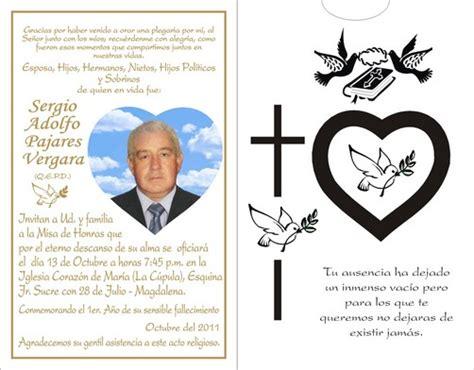 tarjeta aniversario de difuntos tarjetas para misa de difuntos imagui