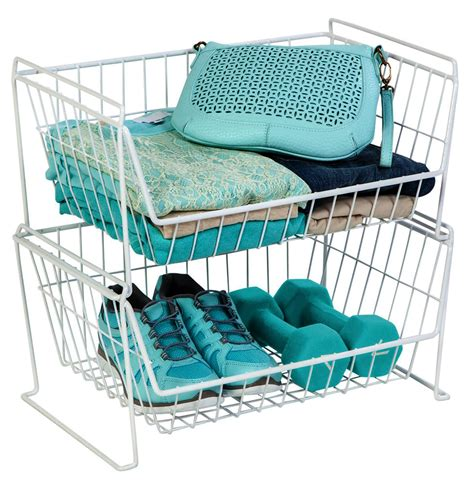 Closet Organizers Wire Baskets by Pantry Closet Organizer In Wire Baskets