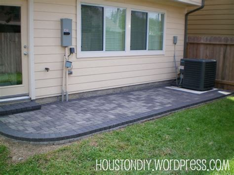 grey paver patio landscaping