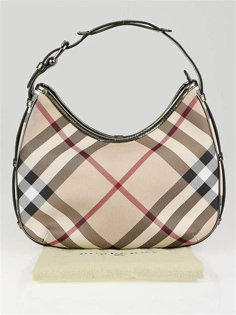 Burberry Check Canvas Hobo Bag Bliss by Burberry Check Coated Canvas Small Barton Hobo Bag