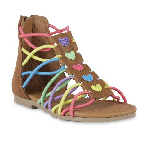 gladiator sandals toddler piper toddler tina gladiator multi color sandal