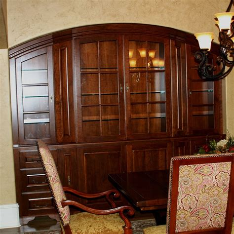 built in china cabinet dining room custom cherry dining room china cabinet by carolina wood
