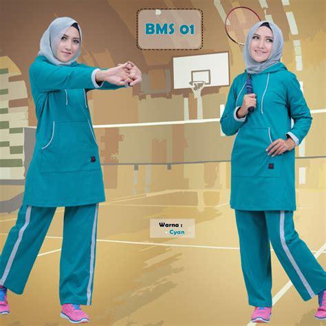 Promo Baju Olahraga Wanita Baju Senam Muslim baju olah raga muslim stelan senam muslim baju senam believe biru tosca elevenia