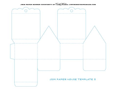Card Stock House Templates by Best Photos Of Cardstock Birdhouse Template Printables