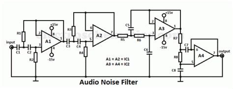 capacitor noise filter circuit audio noise filter circuit audio circuit circuit diagram seekic