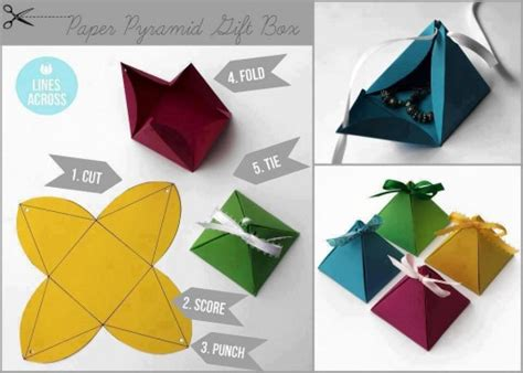 your own gifts diy pyramid paper gift boxes diy tag
