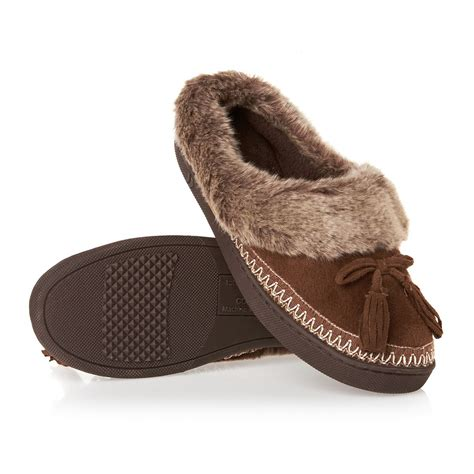 isatoner slippers isotoner pillowstep suedette moccasin slippers