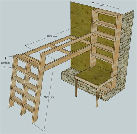 how to build bunk beds diy loft bed