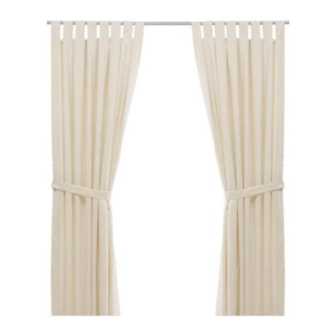 ikea cream curtains ikea bomull curtains pair 300 cm x 145 cm cream ebay