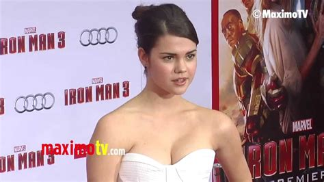 why does mia mitchell have a scar on her forehead maia mitchell quot iron man 3 quot world premiere red carpet
