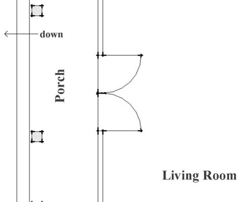 drawing a door on a floor plan architectural drawings