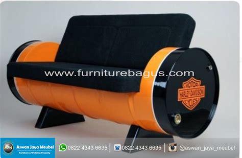 Kursi Pelaminan Bekas kursi besi harley dari drum bekas oli furniture bagus