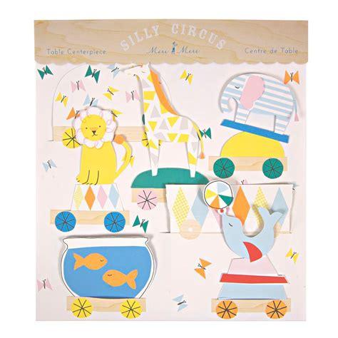 tischdeko party zirkus party silly circus tischdeko von meri meri kaufen