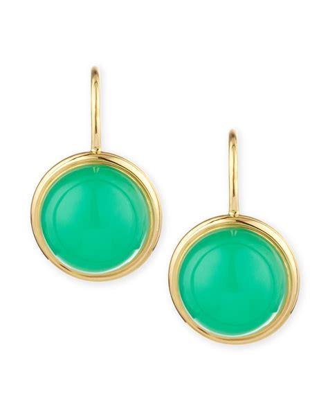 syna baubles 18k large chrysoprase earrings in green lyst