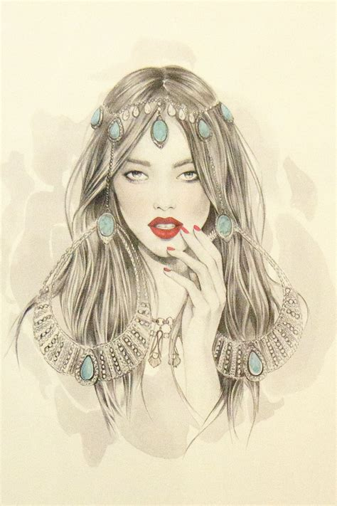 fashion illustration zodiac illustration by smith for wills zodiac collection via jewellery blue