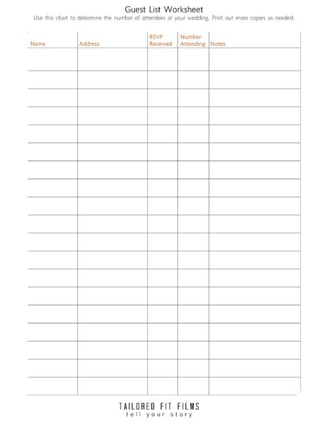 Wedding Planner Sheets by 20 Best Images Of Simple Wedding Planning Worksheets
