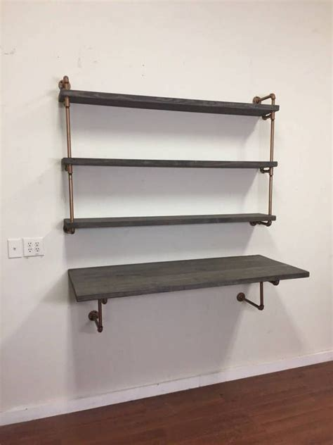 industrial wall shelving best 25 wall mounted table ideas on