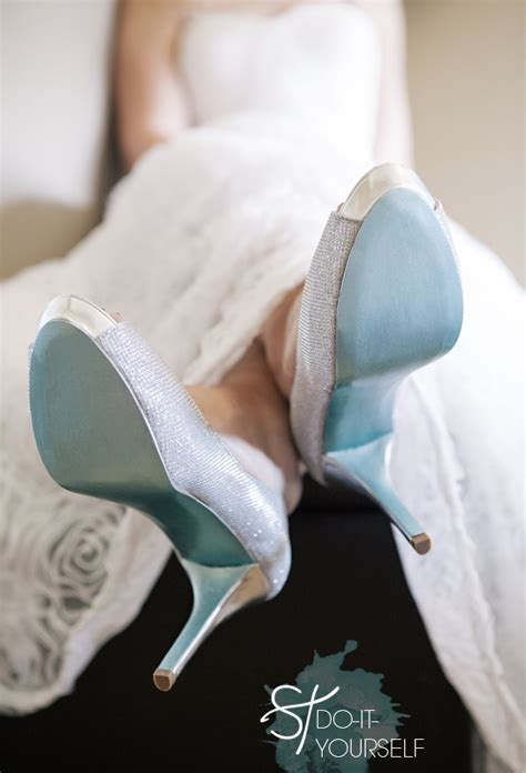 diy shoe wedding diy painted something blue shoe soles something