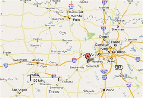 where is granbury texas on map sighting reports 2011