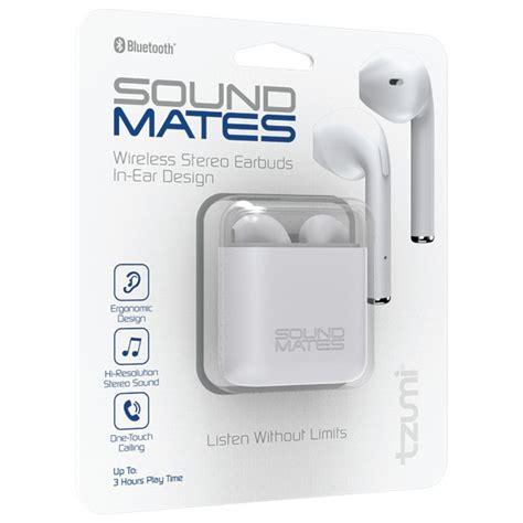 tzumi sound mates bluetooth earbuds  protective