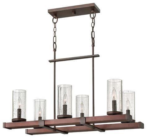 Rectangular Wood Chandelier Fredrick Ramond Jasper 6 Light Rectangular Chandelier Contemporary Chandeliers By Carolina