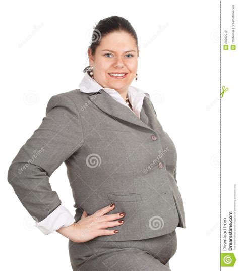 obese professional women smiling overweight fat businesswoman stock photography