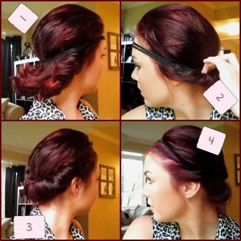 easy updos for short hair step by step super easy four step hairstyle for any length hair https