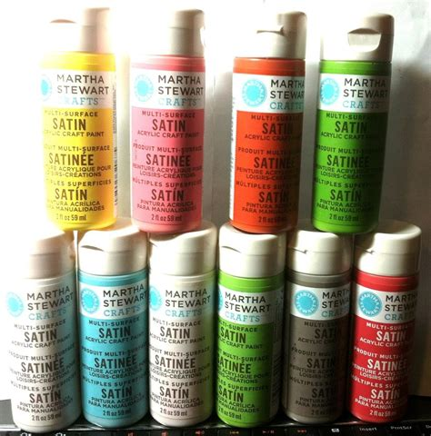martha stewart satin acrylic craft paint sponging stenciling sting non toxic ebay