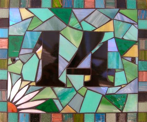 mosaic designs for house numbers l a mosaic gifts handmade mirrors mosaics and jewellery mosaics gallery