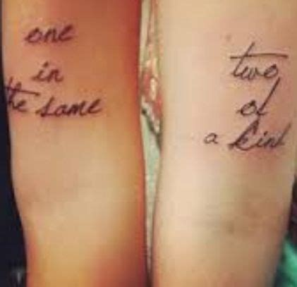 one of a kind tattoos one in the same two of a ink