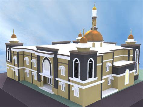 contoh desain gapura masjid contoh desain masjid minimalis 1 dan 2 lantai