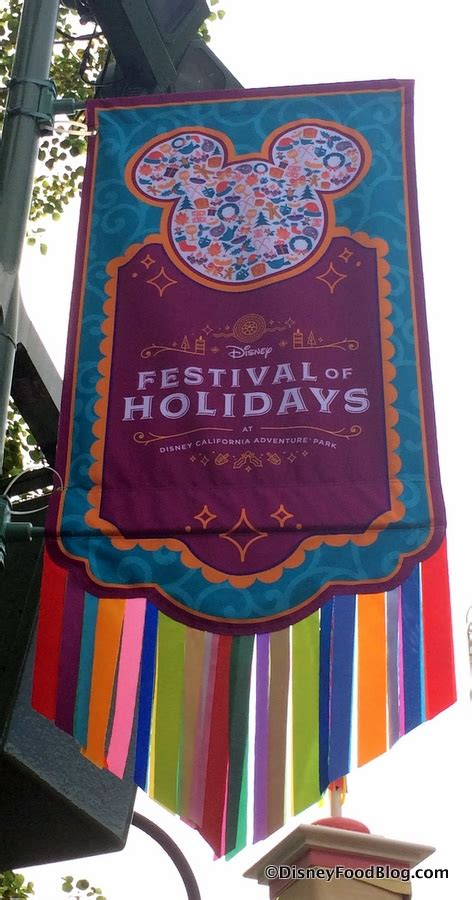 review festival of holidays food booths in disney california adventure at disneyland resort