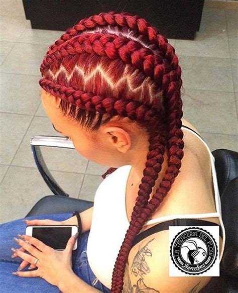 red braids in a bun 31 stylish ways to rock cornrows stayglam
