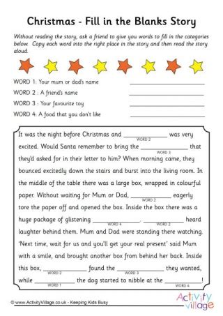 printable christmas fill in the blank games christmas fill in the blanks story dad s christmas lunch