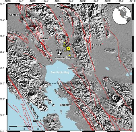 earthquake fault lines map earthquakes without frontiers new satellite maps out napa
