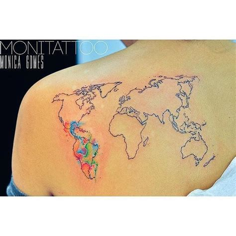17 best ideas about world map tattoos on pinterest world