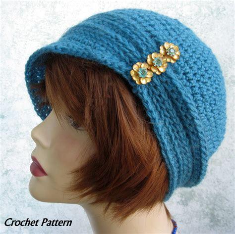 crochet pattern womens hat womens crochet hat pattern cloche with ribbing and small brim