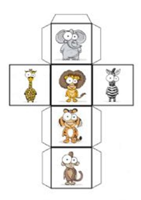 printable animal dice esl kids worksheets wild animals dice