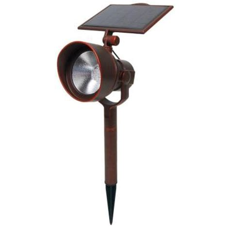 solar lights home depot malibu led solar 54 lumen spotlight
