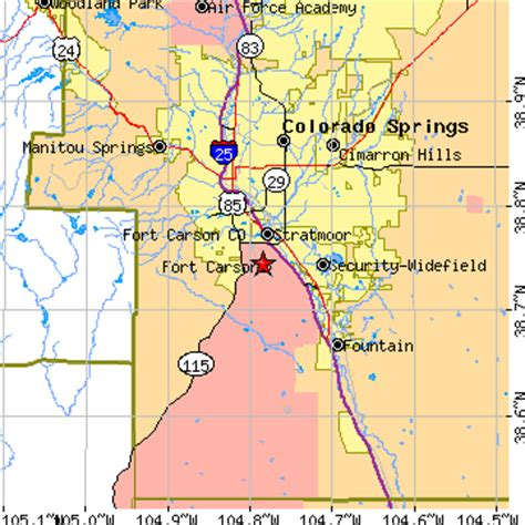fort carson training area map search results for colorado springs zip code map