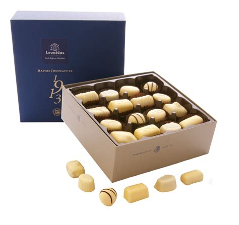 A Box Of White Chocolate 32 white leonidas chocolates ultimate indulgence 2 layer
