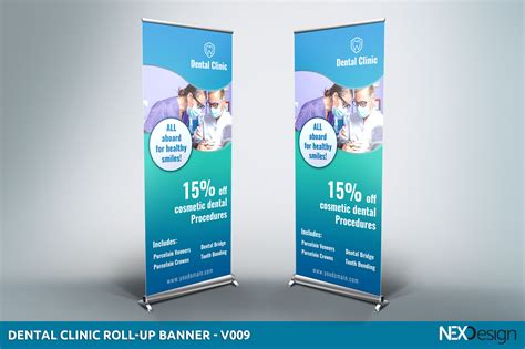 Banner Design For Dental Clinic   dental clinic roll up banner v009 presentation