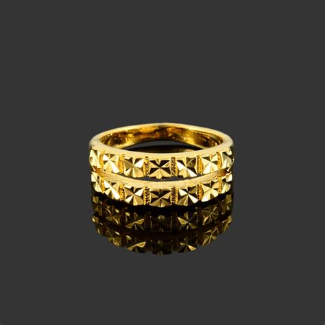 reigns 2018 new 24k gold colour plated copper ring