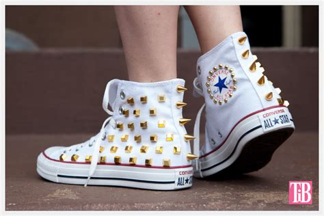 diy converse shoes diy studded converse